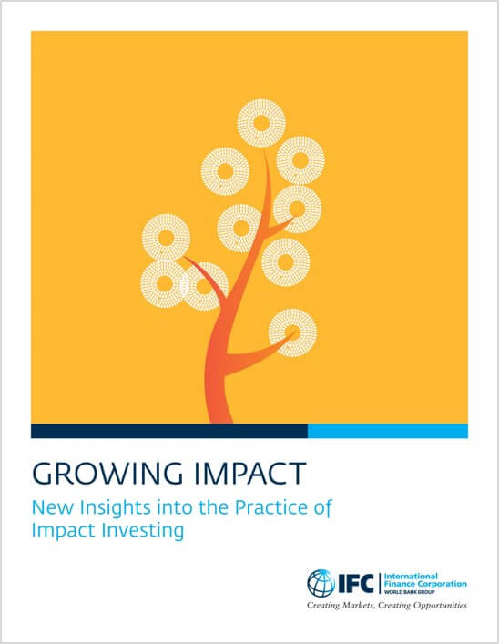 cover of growing impact report